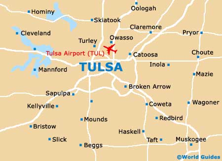 Tulsa Maps And Orientation Tulsa Oklahoma OK USA Comparison Tulsa - Oklahoma in us map