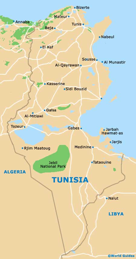 Tunisia Maps and Orientation Tunisia North Africa