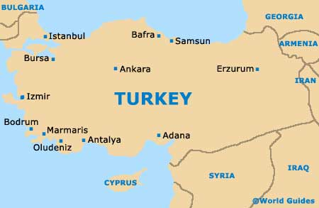Image result for small map of turkey