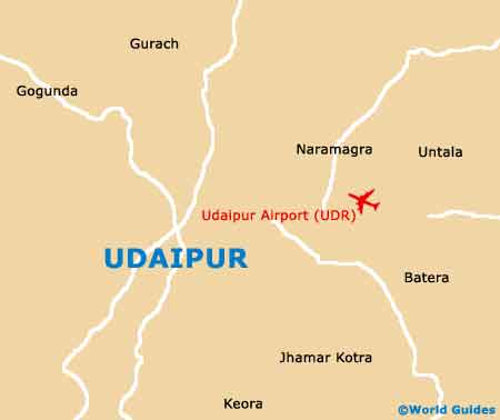 Small Udaipur Map