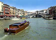 View of Venice's Rialto Bridge