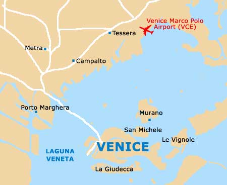 Orientation: Regional Map of Venice - Venice, Italy