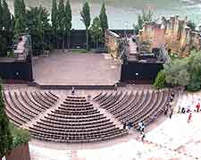 Aerial picture of the Teatro Romano