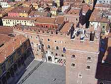 Photo taken from the top of the Torre di Lamberti