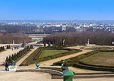 Aerial view of the Palace Gardens and the Paris cityscape