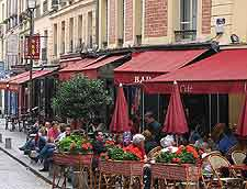 Picture of French cafe tables on the pavement