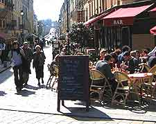 Photo of pavement cafe and diners