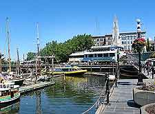 Inner Harbour picture, taken in the summer
