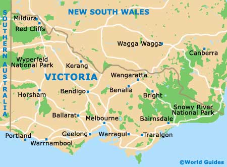 Map Australia Victoria.Melbourne Maps And Orientation Melbourne Victoria Vic
