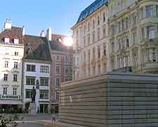 View showing Holocaust Memorial on the Judenplatz