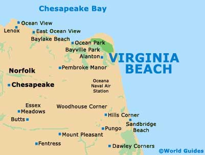 Small Virginia Beach Map