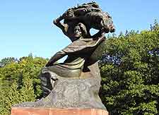 Picture of the Chopin Monument in Warsaw
