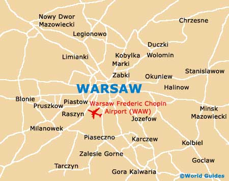 Small Warsaw Map