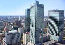 Picture of Warsaw's modern cityscape