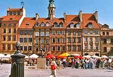 Photo of Warsaw's Old Town Market Place (Rynek Starego Miasta)
