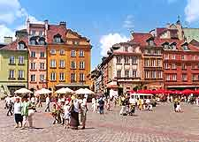 Warsaw Airport (WAW) Information: Picture of the historical Old Town Square