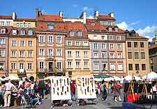 Photo of market on the centrally located Old Town Square