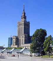 Picture of the Palace of Culture and Science (Palac Kultury i Nauki / PKiN) in Warsaw
