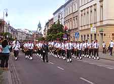 Picture showing seasonal parade through the streets