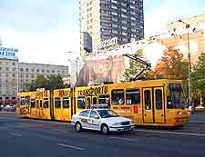 Image of electric tram in the city