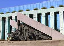 Photo showing the Warsaw Ghetto Uprising Monument