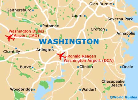 Map of Ronald Reagan Washington National Airport DCA Orientation