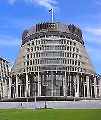 Wellington Parliament Building and Beehive