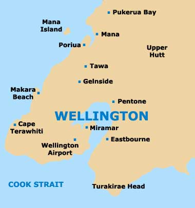 Map Wellington New Zealand.Wellington Maps And Orientation Wellington North Island New Zealand