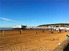 Photo of the lengthy beachfront at Weston Super Mare, North Somerset