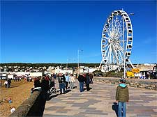 Image showing the promenade and the Wheel of Weston
