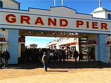 Photo showing the entrance to the Grand Pier