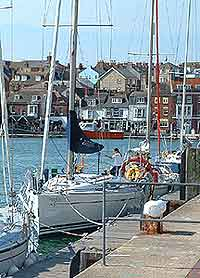 Photo of a yacht in Weymouth Harbour