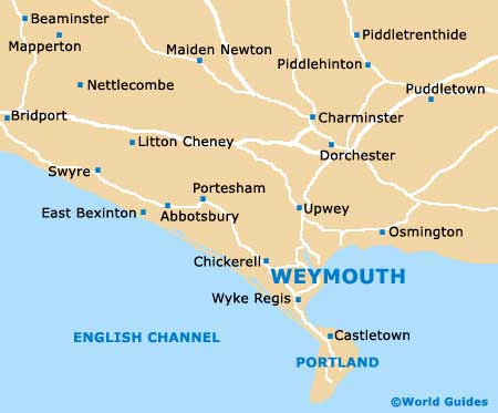 Map Of Uk Dorset.Weymouth Maps And Orientation Weymouth Dorset England