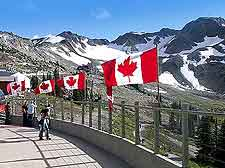Photograph of Canada flags at Blackcomb