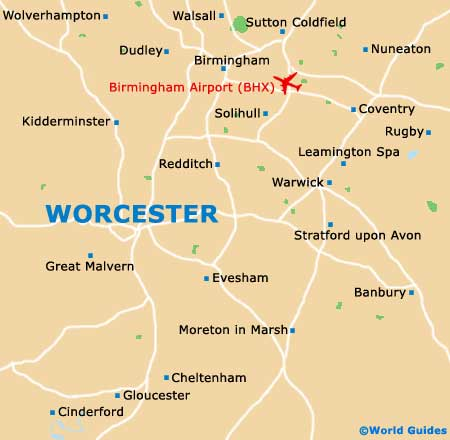 Worcester Maps and Orientation Worcestershire England