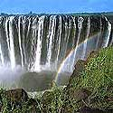 Photo of the Victoria Falls, on the border of Zambia