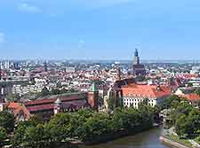 Aerial picture of the cityscape