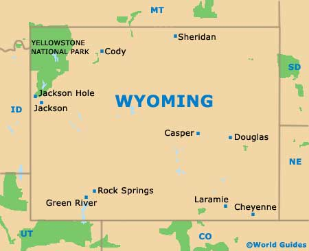 Wyoming WY State Map