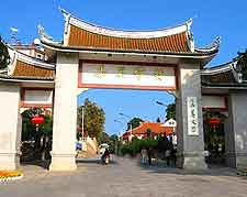 View of traditional Chinese gateway