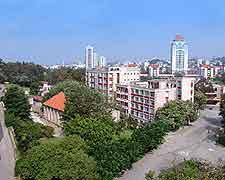 Aerial picture of Xiamen's university campus
