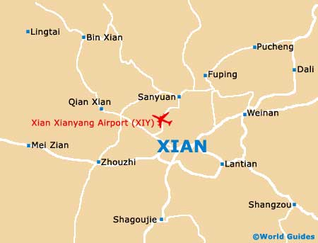 Xian maps and orientation xian shaanxi china small xian map gumiabroncs Image collections