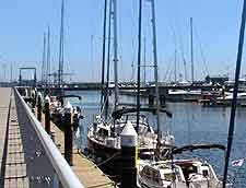 Photo of harbour, next to the Bay Bridge