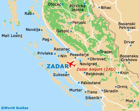 Image result for zadar map