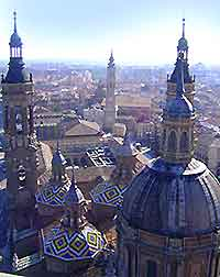 Photo showing view of central Zaragoza