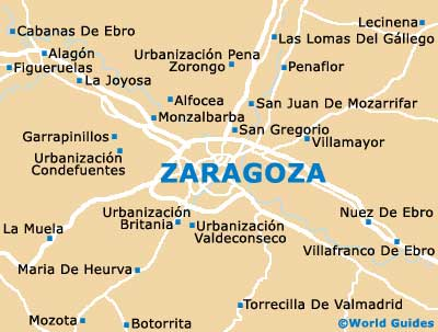 zaragoza maps and orientation zaragoza aragon spain