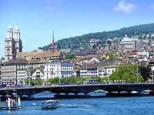 View of the skyline and Limmat River