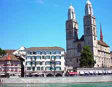Picture of the centrally located Grossm&#252;nster