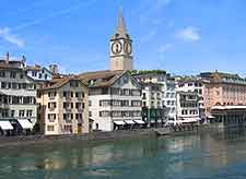 Zurich photo of the riverfront buildings