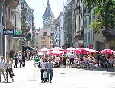 Image showing al fresco diners in the city centre