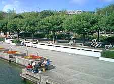 Picture of cruise departure point on the Limmat River